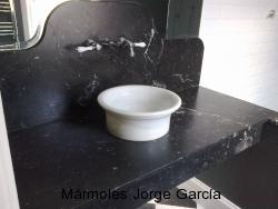 Blanco Macael y Negro Marquina